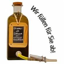 Laux 'Olivenöl Limone', in verschiedenen Flaschenformen und Mengen!