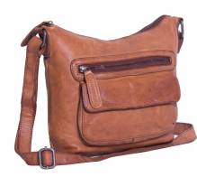 Chesterfield Damen Ledertasche Aliz cognac