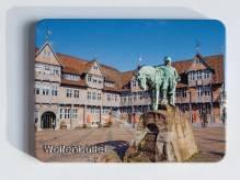 geprägter Metallmagnet - Stadtmarkt Wolfenbüttel