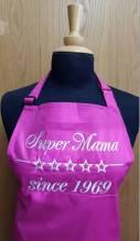 Kochschürze inklusive Stickerei Super Mama