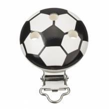 Schnulli-Ketten Clip Fussball, schwarz/weiss, Btl. à 1 St.