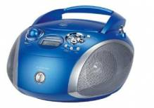 RCD 1445 USB, blau/silber