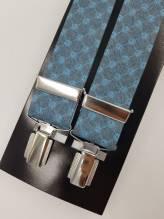 Lindenmann Hosenträger hellblau mit Clips verstellbare Länge bei Mode Schönleitner in Gmunden