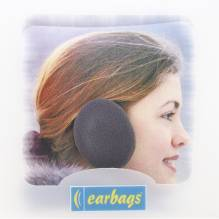 Earbags Rahmenlose Ohrwärmer dunkel grau fleece F001dkgrau