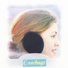 Earbags Rahmenlose Ohrwärmer dunkel blau fleece Größe M