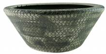 Gilde Bodenvase Keramik teil glasiert grau beige 31545-5