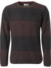 No Excess Pullover mit dicken Streifen und Rundhalsausschnitt in dunkelviolett bei Mode Schönleitner in Gmunden