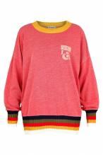 Oversize Sweatshirt mit Strickbündchen - Grace Trinity Red