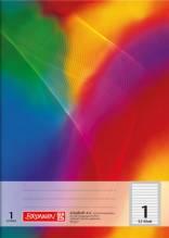 Schulheft A4 verschiedene Lineaturen 16Blatt