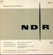 Schmidt-Isserstedt, NDR Radio LP, Haydn - Sinfonie Nr.92, Brahms op.54