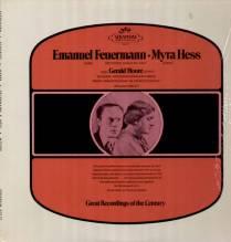 Emanuel Feuermann, Myra Hess, Beethoven, Schubert, Weber sealed LP