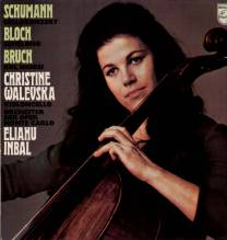 Christine Walevska, Cello Recital, Schumann, Bloch, Bruch - LP ED 1