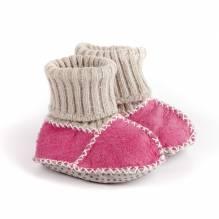 Balu Baby-Patscherl, pink, rosa, Lammfell, mit ABS Sohle. Bei Lederbekleidung Paschinger kaufen