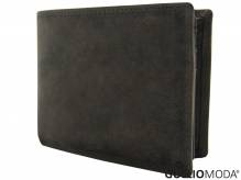 GULLIOMODA® Geldbörse im Querformat (H105) Dunkelbraun