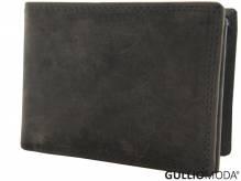 GULLIOMODA® Geldbörse im Querformat (H102) Dunkelbraun