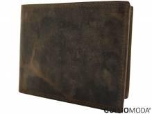 GULLIOMODA® Geldbörse im Querformat (H512) Cognac