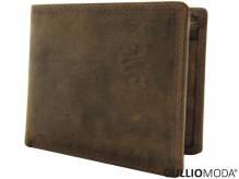 GULLIOMODA® Geldbörse im Querformat (H101) Cognac