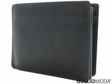 GULLIOMODA® Geldbörse im Querformat (LF491) Dunkelbraun