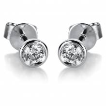 Ohrstecker 18 kt WG, 2 Brill 0,19 ct, TW-si