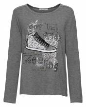Shirt Glitter Schuh, Rundhals 1/1