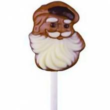 Weibler 'Weihnachtsmann Lolly' Vollmilch-Schokolade dekoriert, 15g