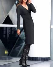 Jerseykleid m. Raffungen, schwarz