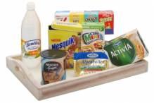 Tablett mit Frühstücksutensilien