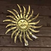 Wandhänger Metall Sonne