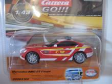 64122 Carrera Go 143 Mercedes AMG GT Coupe Feuerwehr mit Blinklicht