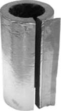Rohrdämmschale aus Steinwolle für Ofenrohr alu-kaschiert verschiedene Durchme...