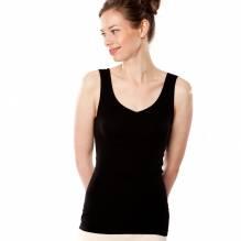 Living Crafts Trägerhemd, schwarz V-Ausschnitt 4350