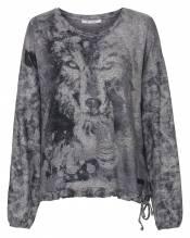 Shirt Wolf allover, Rundhals 1/1