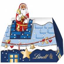 Lindt 'Santa im Mini-Schornstein' blau, 62g