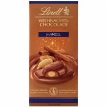 Lindt 'Weihnachts-Chocolade Mandel', 100g