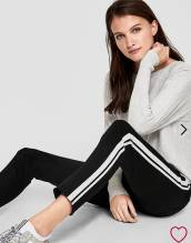 Hose Joggpants, Farbe schwarz/weiß Gr. 36