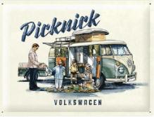 VW Blechschild 'Picknick'