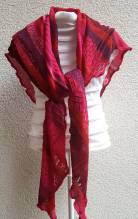 INVERO - Strick Accessoire - Dreiecktuch - Serie TÖNE Pink