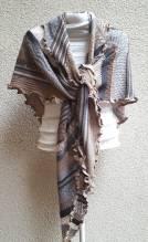 INVERO - Strick accessoire - Dreiecktuch - Serie TÖNE Sand