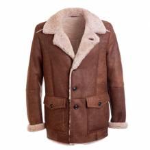 Lammfelljacke, Herrn, Modell Christian, Farbe braun, bei Lederbekleidung Paschinger kaufen.