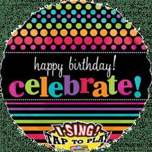 Singender Ballon, Happy Birthday ca. 70cm