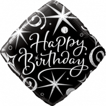 Folienballon Happy Birthday ca. 47cm, verschiedene Motive bestellbar