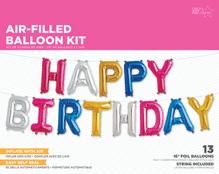 Folienballon Schriftzug Happy Birthday, Buchstaben 34cm hoch