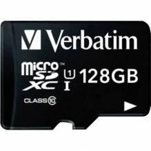 Verbatim Speicherkarte micoSDXC 44085 Class 10 128GB +Adapter