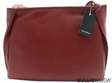 GULLIOMODA® Schultertasche mit zwei Schulterriemen (T04) Bordeaux