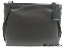 GULLIOMODA® Schultertasche mit zwei Schulterriemen (T04) Dunkelbraun