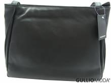 GULLIOMODA® Schultertasche mit zwei Schulterriemen (T04) Schwarz