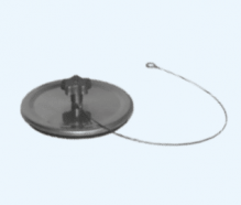 Blinddeckel Schornsteinverschluss Blindkappe Edelstahl 130mm