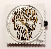 S.T.A.M.P.S. - Uhr 'Diamond Skully Leo' mit Swarovski-Kristallen besetzt