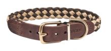 Hundehalsband Newton Paracord Beige/Braun, Länge 45cm