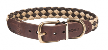 Hundehalsband Newton Paracord Beige/Braun, Länge 40cm